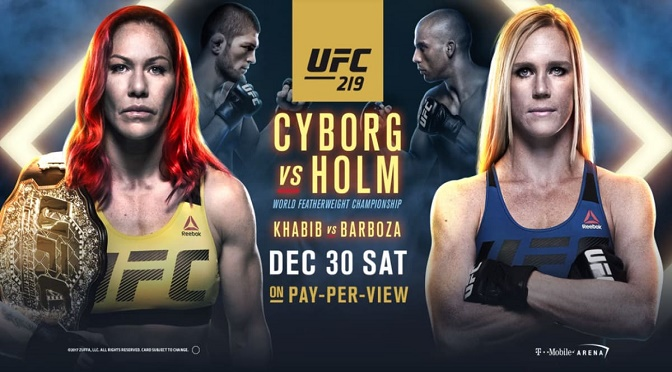Watch UFC 219 Cyborg vs. Holm 12/30/17 Online 30th December 2017 Full Show Free