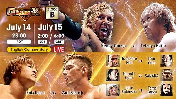 Watch NJPW G1 Climax 28 – Day 2 7/15/2018 Full Show Online Free 15th July 2018