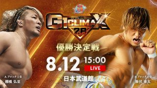 Watch NJPW G1 Climax 28 Day 19 8/12/2018 Full Show Online Free 12th August 2018